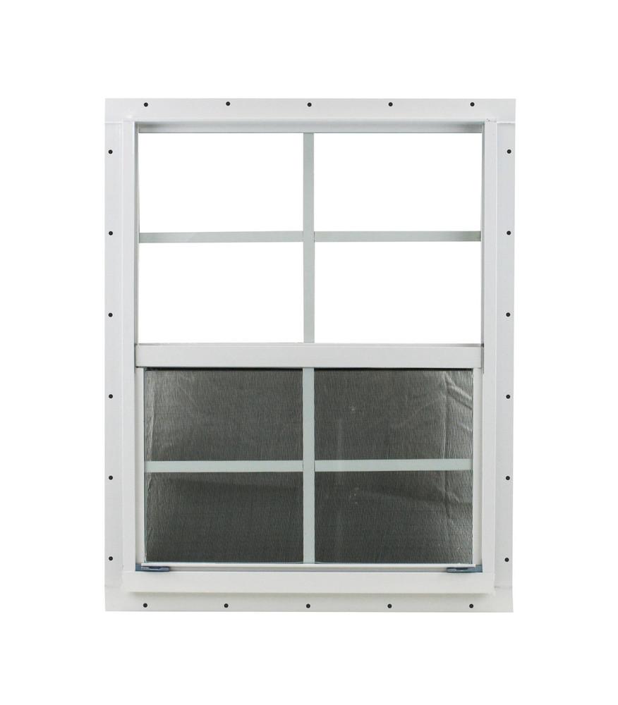 "21"" x 27"" White J-Channel Shed Window"
