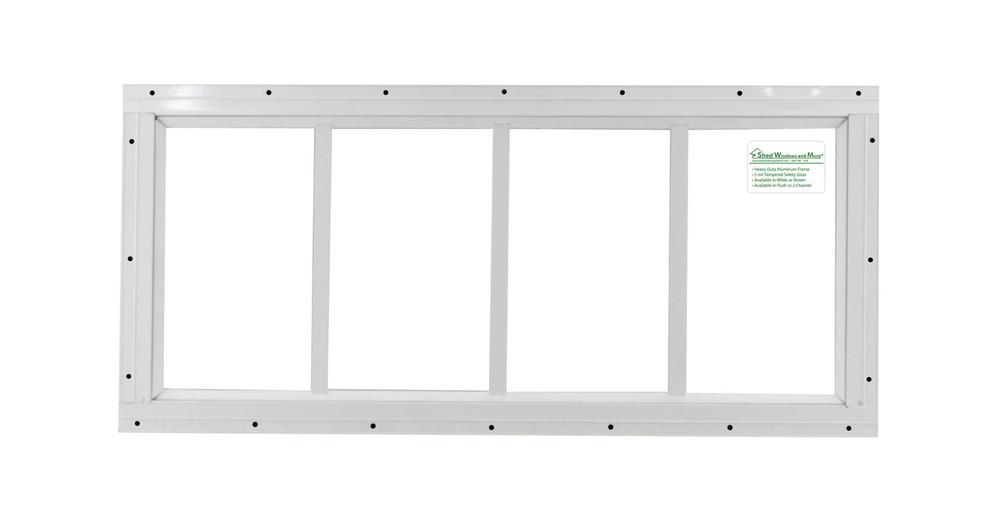 "10"" x 24"" White Flush Transom Window"