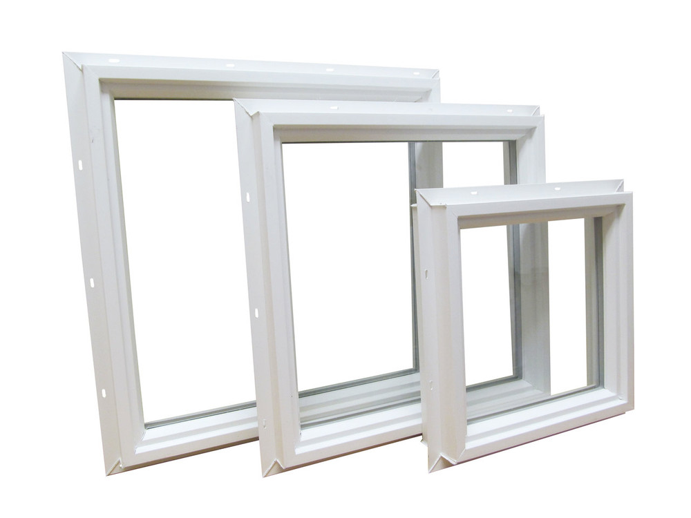 "12"" x 12"" Square Double Pane Vinyl Windows"