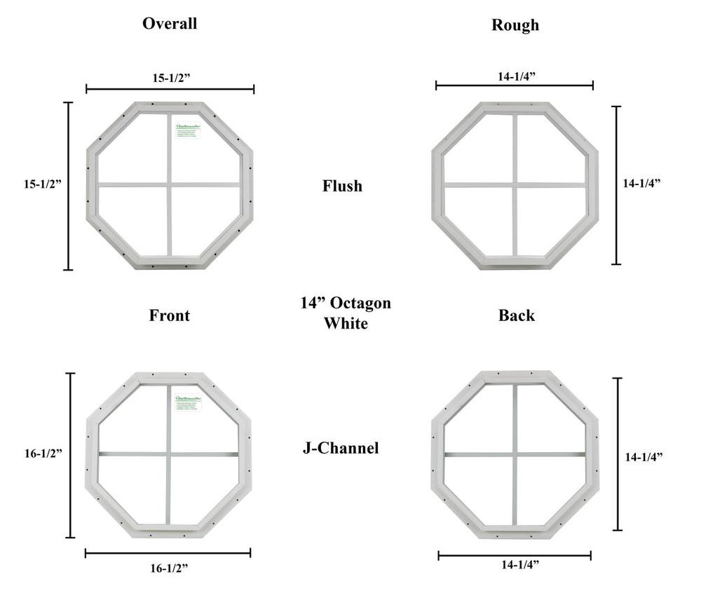 "14"" Octagon Window"