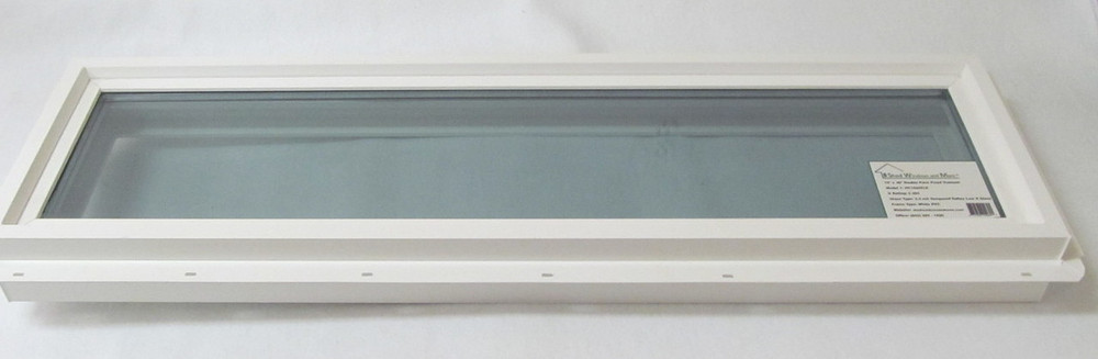 "10"" x 36"" Transom Double Pane Tempered Low-E Glass Vinyl Windows"