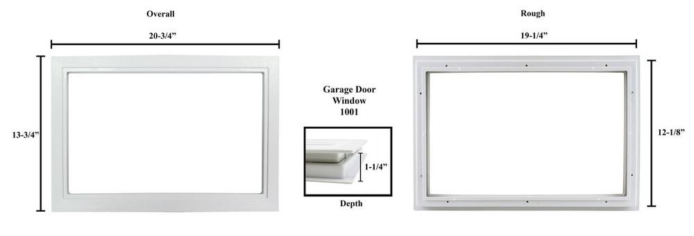 Single Pane Garage Door Window