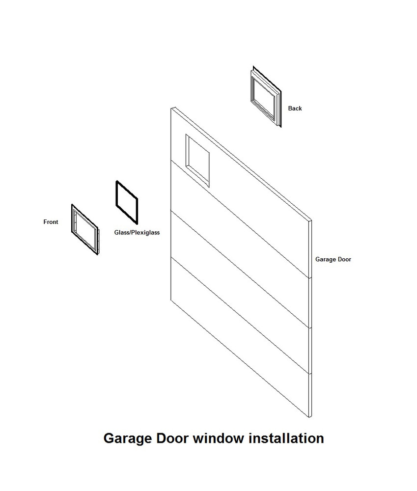 4 Pane Garage Door Window