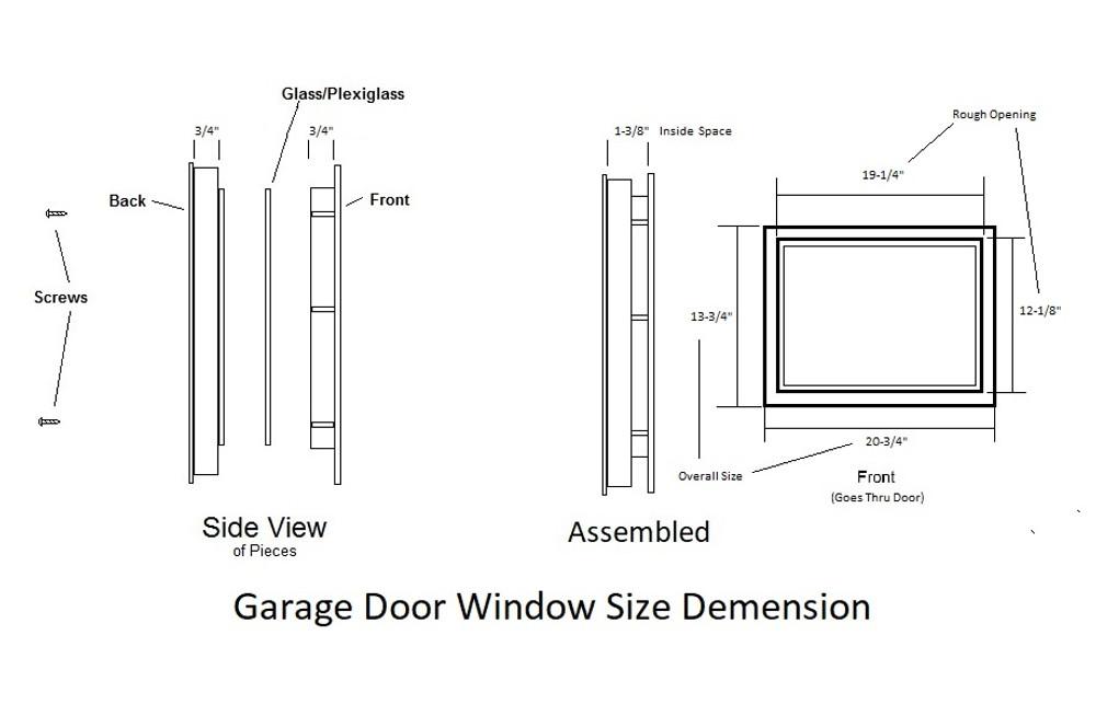Diamond Garage Door Window