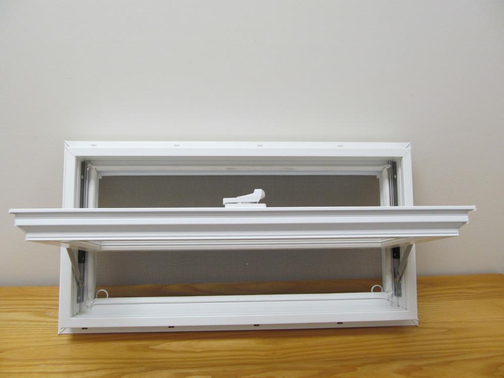 "24"" x 12"" Awning Transom Insulated Glass Vinyl Window"