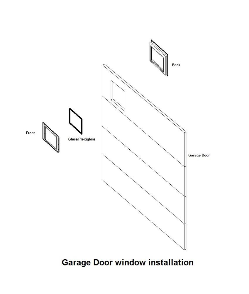 Simple 4 Pane Garage Door Window