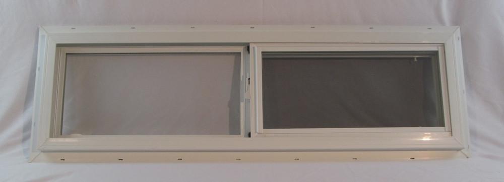 """42"""" x 12"""" Double Pane Horizontal Sliding Vinyl Window"""