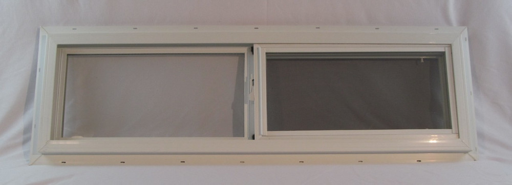 "42"" x 12"" Double Pane Horizontal Sliding Vinyl Window"