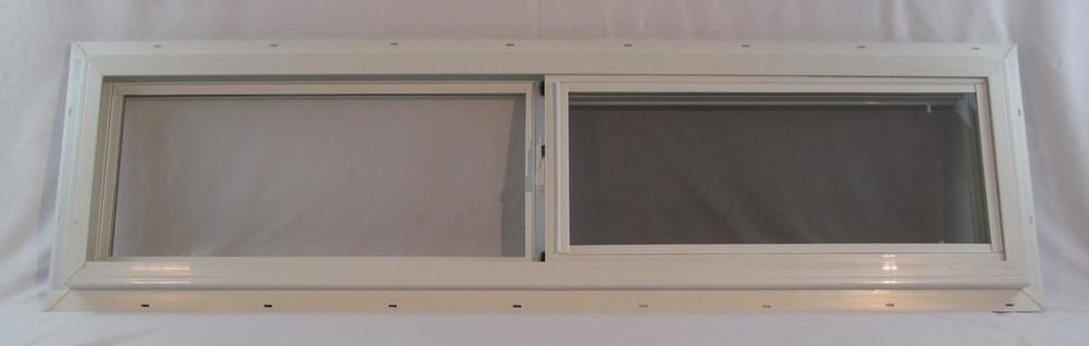 """48"""" x 12"""" Double Pane Horizontal Sliding Vinyl Window"""