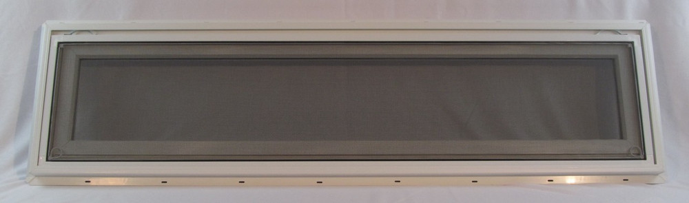 "48"" x 12"" Awning Transom Insulated Glass Vinyl Window"