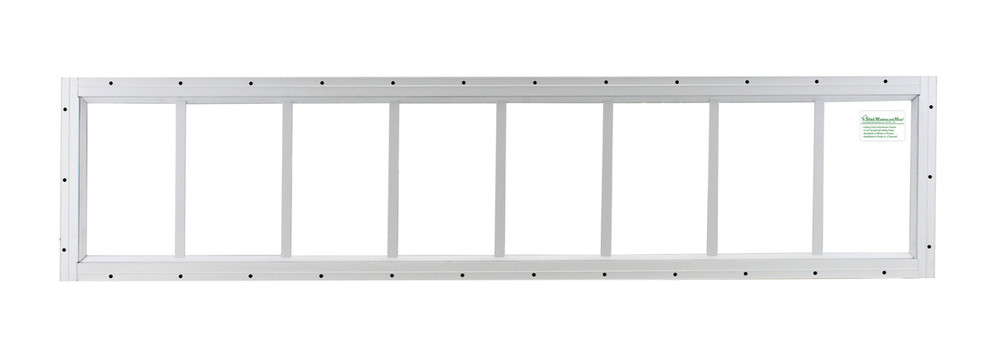 "10"" x 48"" White J-Channel Transom Window"