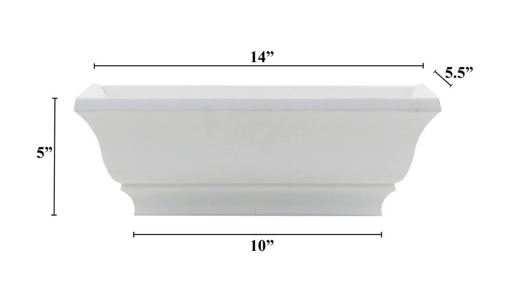 "14"" Decorative PVC Flower Box"