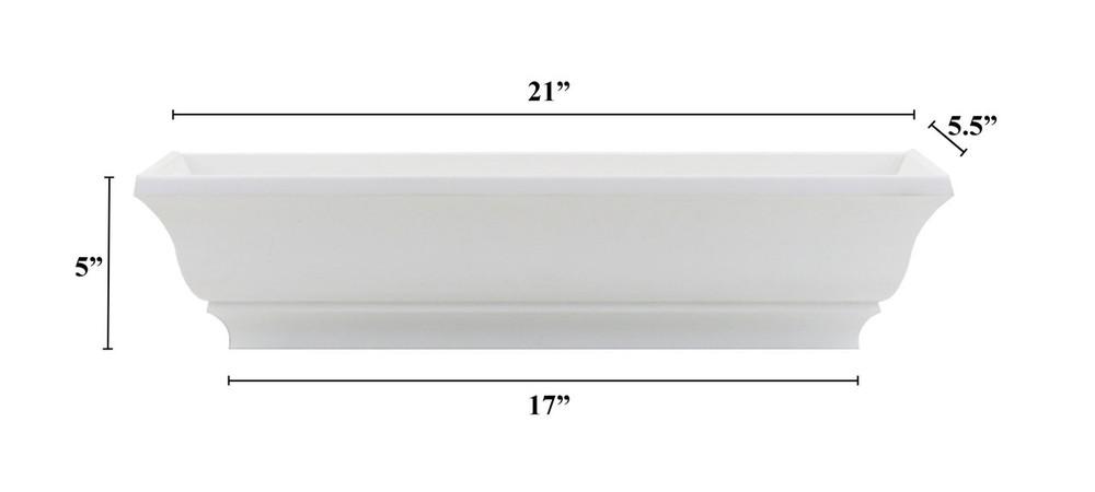 "21"" Decorative PVC Flower Box"