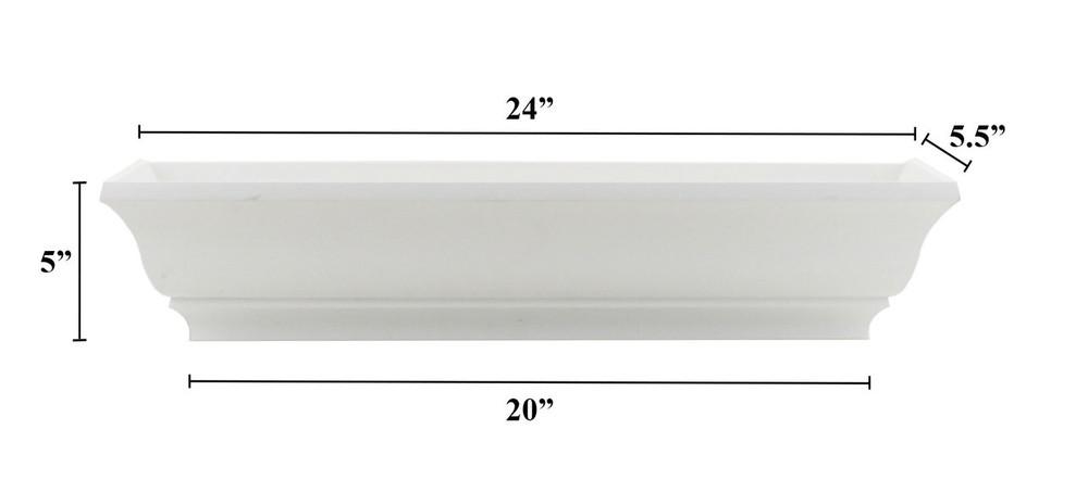 "24"" Decorative PVC Flower Box"