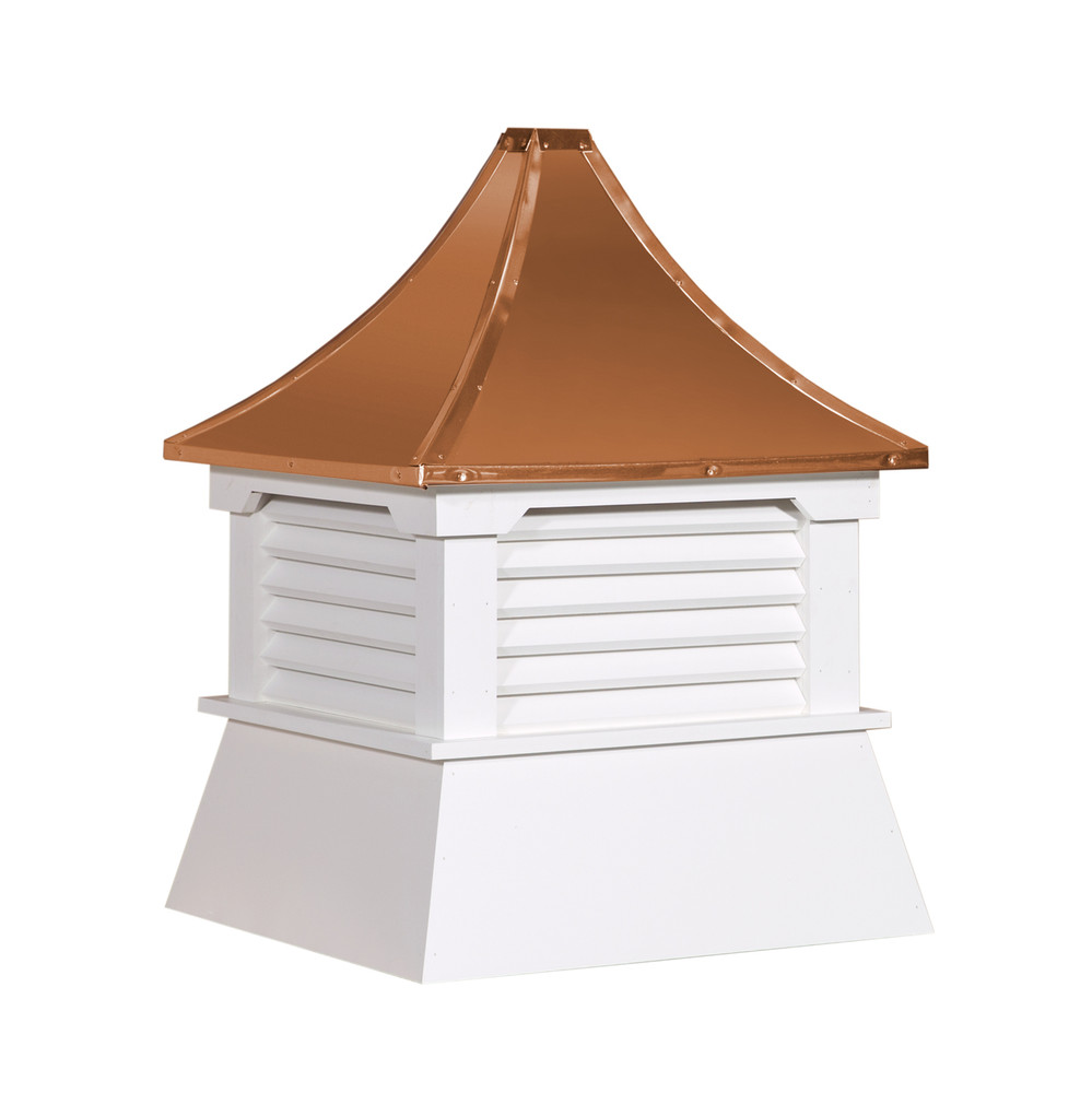 """21"""" Vinyl Vented Cupola with Pagoda Roof"""