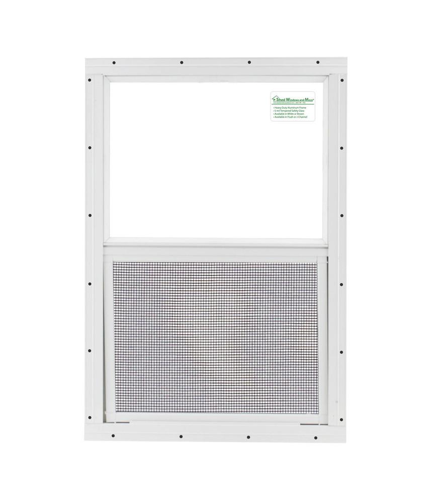 """18"""" x 27"""" Safety Glass Window Without Girds"""