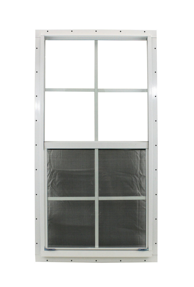 "18"" x 36"" White J-Channel Windows Play House, Tree House and Shed Window"