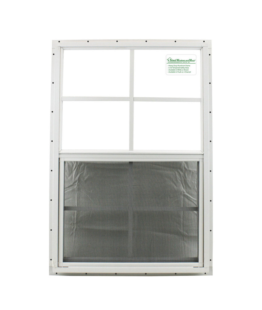 "20"" x 30"" White J-Channel Shed Window"