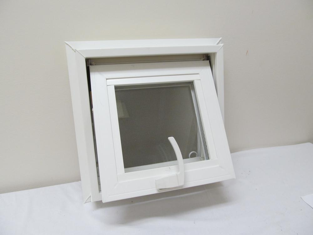 "12"" x 12"" Awning Transom Insulated Glass Vinyl Window"