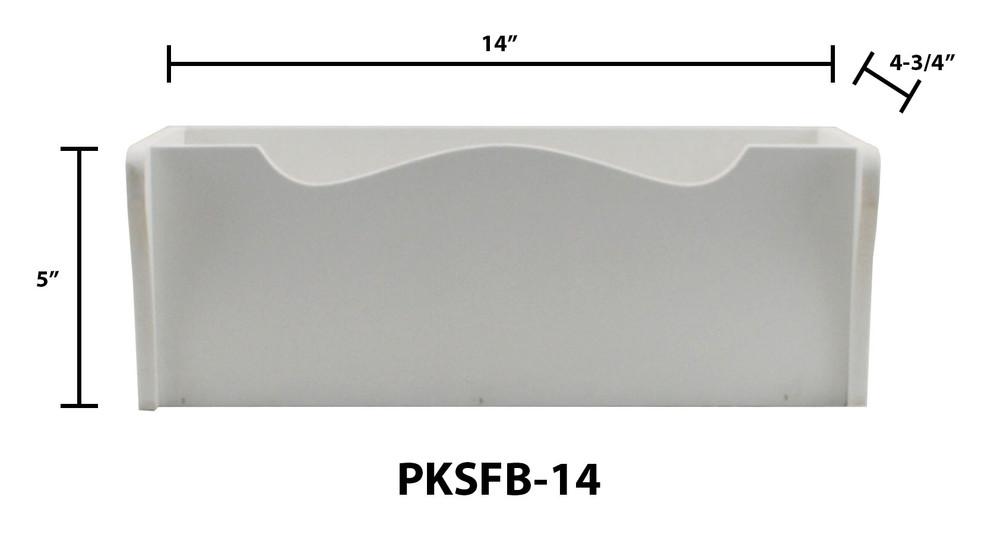 "14"" Shaker Style PVC Flower Box"