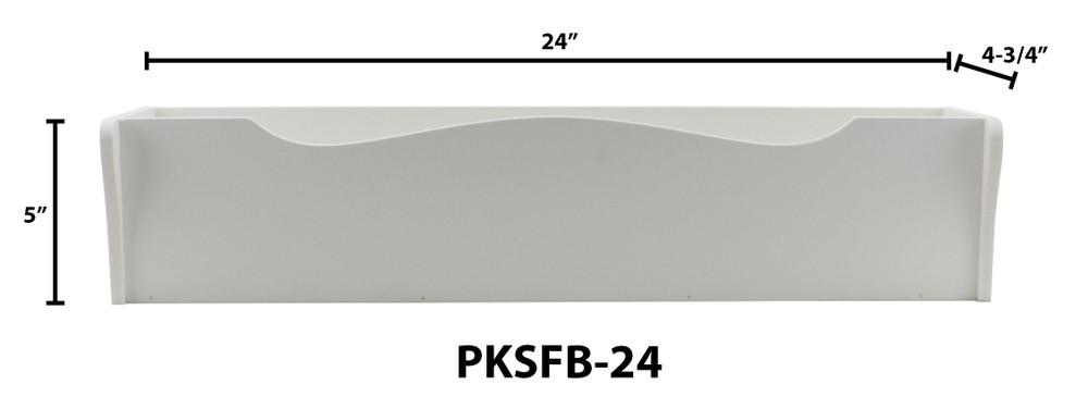 "24"" Shaker Style PVC Flower Box"