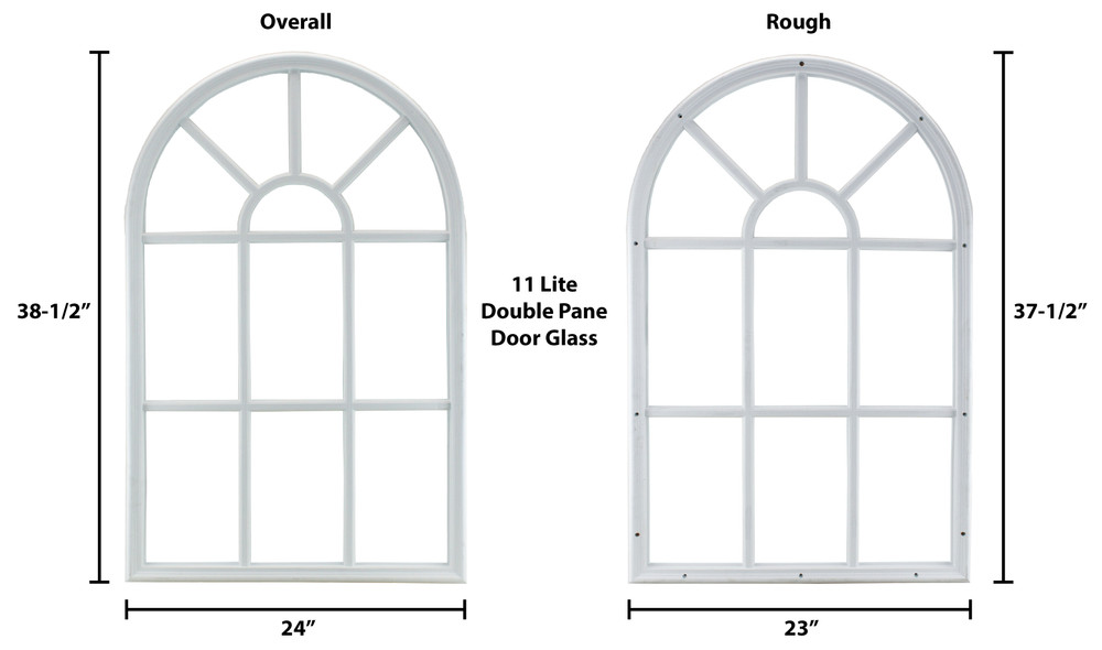 Door Glass Arched 11-Lite