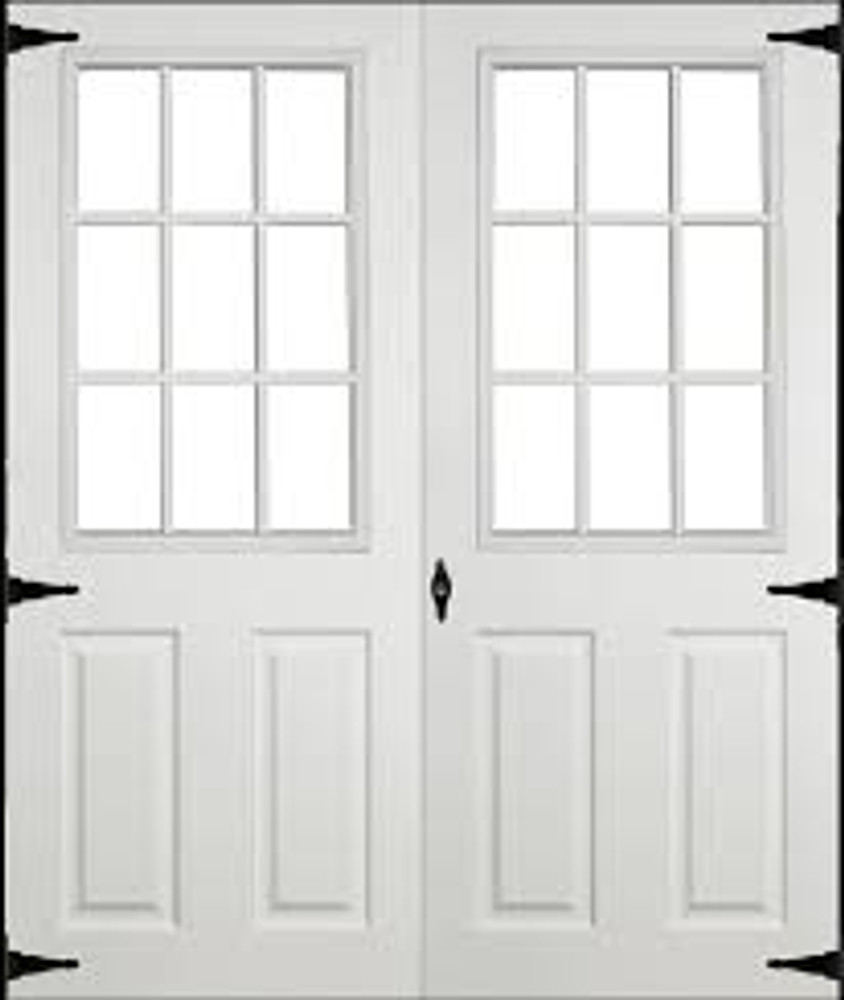 """30"""" x 78"""" Fiberglass Door with 9-Lite Window Insert Double Door"""