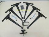 "12"" Gate Hinge Hardware Kit with Heavy Duty Barrel Bolts"