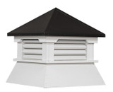 Black Hip Roof with Vents
