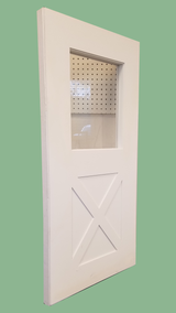 """Shed Windows and More 24"""" x 48"""" Playhouse Door - Barn Style with Window"""