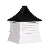 "16"" Vinyl Vented Cupola with Pagoda Roof"