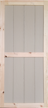 "30"" x 78"" Wood Shed Door"