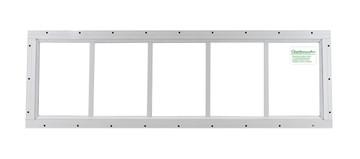 "10"" x 35"" White Flush Transom Window"