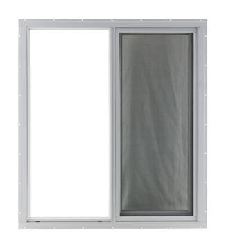 24 x 27 Horizontal Sliding Window White Flush Mount (Front)