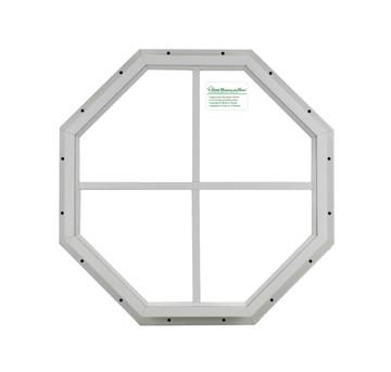 "18"" White Flush Octagon Window"