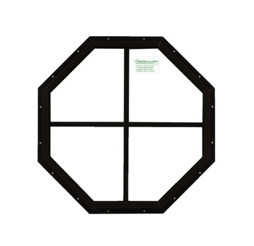 "18"" Brown Flush Octagon Window"
