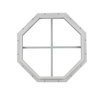 "18"" White J-Channel Octagon Window"