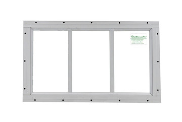 "10"" x 18"" White Flush Transom Window"