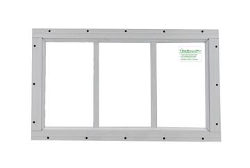 "10"" x 18"" White Flush Transom Window"