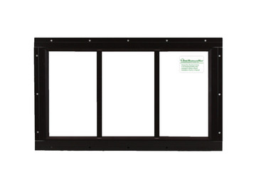 "10"" x 18"" Brown Flush Transom Window"