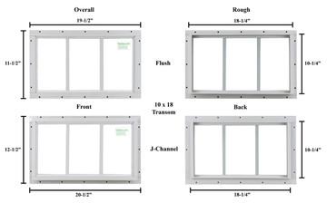 """10"""" x 18"""" Transom Window"""