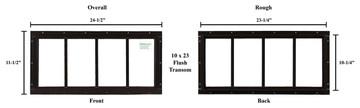 """10"""" x 23"""" Transom Window"""