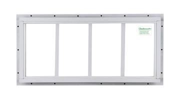 "10"" x 23"" White J-Channel Transom Window"
