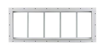 "10"" x 29"" White J-Channel Transom Window"