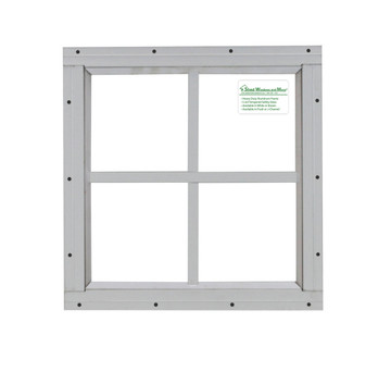 16x16 White Flush Play House, Tree House and Shed Window