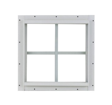 16x16 White J Channel Play House, Tree House and Shed Window