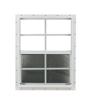 "24"" x 27"" White J-Channel Shed Window"