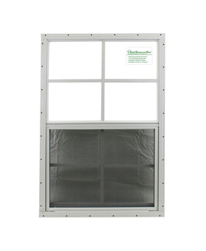 """24"""" x 36"""" White Flush Shed Window with Safety Glass"""