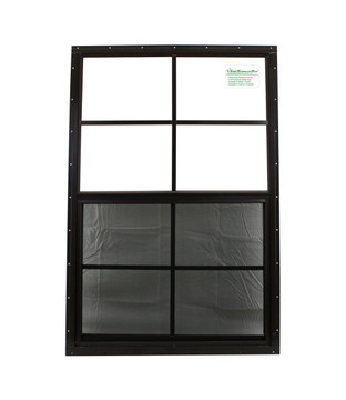 """24"""" x 36"""" Brown Flush Shed Window with Safety Glass"""
