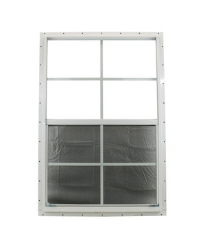 """24"""" x 36"""" White J-Channel Shed Window with Safety Glass"""